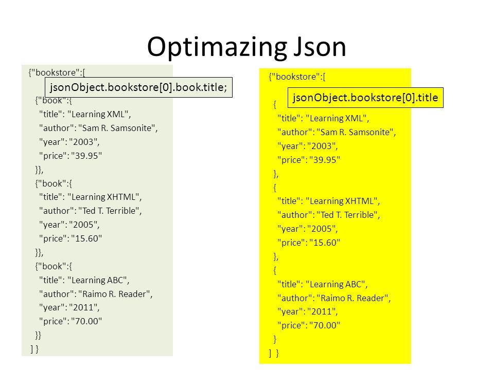 Optimazing Json jsonObject.bookstore[0].book.title;